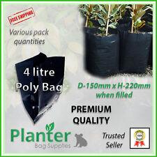 4 litre Premium Planter Bags - varying quantities. Poly Plant bag, Grow bag