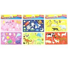 Children Stencils Animals Space Dinosaur Unicorn Princess Large 2 Pack Kids Art