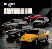 1991 Hyundai Sales Brochure Catalog Large-Size Scoupe Sonata Excel