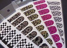 Nail Art impresionante Uñas Wraps Leopardo comprobar la cobertura total polaco Agua Decal Sticker