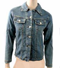 Women's Stylish Casual Light Wash Denim Jacket