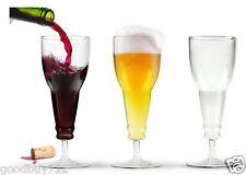 1pcs Long neck Wine Glass beer bottle atop a sleek chic wine stem cool look -ig