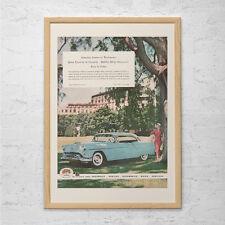 VINTAGE CAR AD - Retro Car Poster, Mid Century Wall Art, Retro Style Poster, Vin