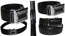 Quick-lock Men's leather dress belt, Casual belt. Automatic fit leather belt NWT