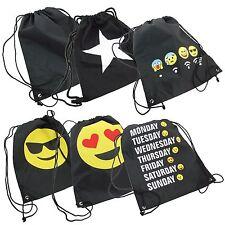 Turnbeutel Rucksack mit Emoji Sportbeutel Gymback Beutel Tasche Jutebeutel