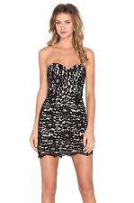 NBD X NAVEN TWINS I GOTTA FEELING DRESS BLACK LACE STRAPLESS Sz XS S M L $220NWT
