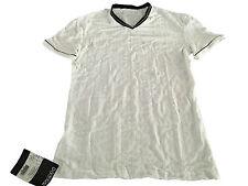 HOM manga corta camiseta blanco con perfiles en negro con el logotipo mod