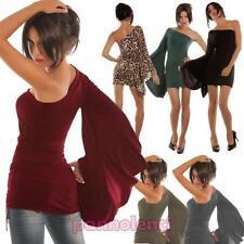 Minirobe femme mono manches maxitop jersey robe robe neuf CC-681
