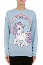 Moschino Women's sweater wool Moschino X My Little Pony capsule light blue pu...