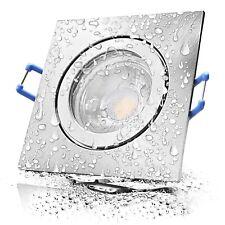 Matt Chrom / LED Bad Einbauspot Aqua44-Q / 230V / 5W / Feuchtraum, Innen, Aussen