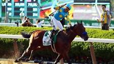 American Pharoah Pharaoh Belmont Stakes Print Triple Crown Winner Victor Espinoz