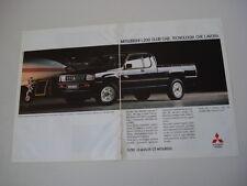 advertising Pubblicità 1991 MITSUBISHI L200 CLUB CAB