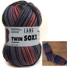 (7,95€/100g) Lang Yarns Twin Soxx 2 gleiche Socken stricken 4fach 4fädig Wolle