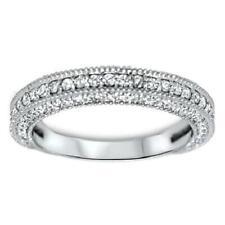 Real Diamond Wedding Anniversary Ring Pave Set 1.10Ct Pave Set 14Kt White Gold