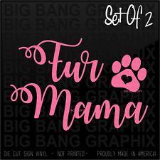 Fur Mama Decal Script Sticker Boxer Shepherd Basset Frenchie Bulldog Beagle Dog