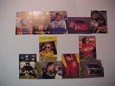 96 PINNACLE DRIVER-CAR SHOTS 97 PORTRAITS (11) CARD LOT