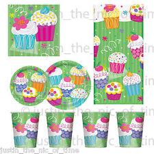Cupcake Barbacoa Jardín De Verano Niñas Cumpleaños Fiesta Vajilla Placas Tazas Servilletas