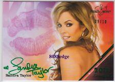 2011 BENCHWARMER LIMITED LIP KISS AUTO: SANDRA TAYLOR #9/10 AUTOGRAPH PLAYMATE