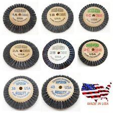 Cocker Weber Bristle Brushes Wooden Hub Assorted Original USA Jewelry Polishing