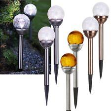 2er Juego Solar Lámpara de Bola 29x8cm Led Jardín Glas-Kugel Redonda