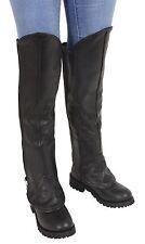 Ladies Knee High Half Chap Leggings w/ Zipper Entry
