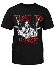 Time to Purge T-Shirt Sprüche Fun Shirt Lustig Shooter Gamer Kult Retro Herren