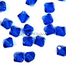 3mm Capri Blue (243) Genuine Swarovski crystal 5328 XILION Loose Bicone Beads