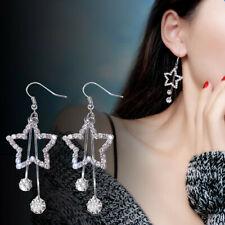 Stud Dangle Pendant Earrings Jewelry Ca Elegant Women Star Earrings Crystal Ear