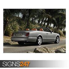 Bentley AZURE T Cabrio 5 (AD170) Auto Poster-Poster Arte Stampa A0 A1 A2 A3