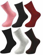 Ladies Merino Lambs Wool Blend Warm 2.4 Tog Thick Crew Socks Thermal (UK 4-8)