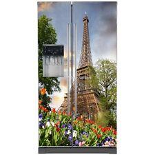 Sticker frigo américain électroménager déco cuisine Tour Eiffel 734