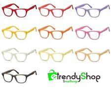 Montatura Per Occhiali Colorate Uomo Donna con Lenti Trasparenti Neutre CP173