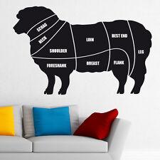 Cuts of meat diagram wall sticker lamb sheep butchers decal cm2