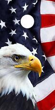 Single- Cornhole Board- Bag Toss wrap- Vinyl Decal- Patriotic Bold Eagle Flag