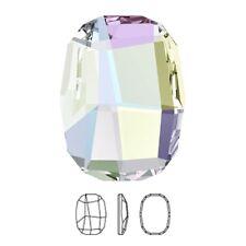 Genuine Swarovski Graphic (2585) AB Crystal (No Hotfix) Flatback Oval Rhinestone