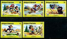 Antigua & Barbuda 890-894 Mickey Mouse Walt Disney characters 1985. x10075