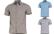 PENTAGON Camicia casual uomo quadri militare tattica Scout Short Shirt