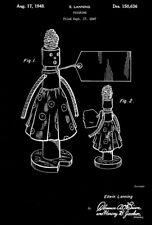 1948 - Figurine - E. Lanning - Patent Art Poster