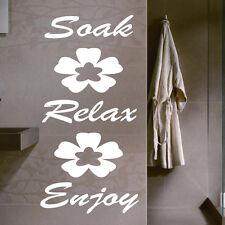 Soak/ Relax / ENJOY Etiqueta Pared Baño Pegatinas Pared Frase