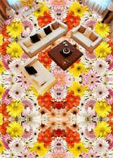 Patrón rápido de color amarillo 3D Suelo Mural Foto Pisos Papel Pintado Impresió