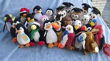 W-F-L TY  Beanie  #1 Stoffvogel  14 - 20 cm Pinguin Eule Geier Adler Vogel