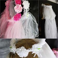 Hochzeit Schleier Braut Brautschleier Veil Rosa Weiss Fasching Party Motto Blume