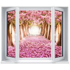 Sticker trompe l'œil fenêtre  Arbres et Fleurs 5330 5330