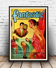 Fantásticas aventuras de 1951, Antigua Tapa De Revista, carteles, arte de pared, la reproducción.