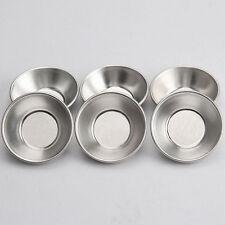 10 Pcs Egg Tart Pasteis De Nata Oven Bake Round Custard Tin Tool Easy to Use