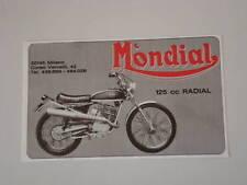 advertising Pubblicità 1976 MOTO MONDIAL 125 RADIAL