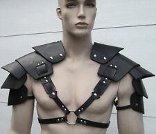 Hommes cuir véritable épaule harnais triangle Body Armour Body Armor