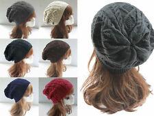 Damen Mütze  Strickmütze  Wintermütze  Beanie  Wollmütze  Warme  Dicke Ski mütze