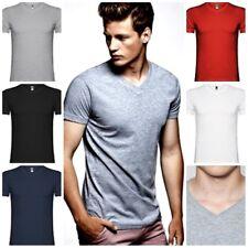 Camiseta hombre de manga corta y escote en pico de 4 capas. 100% Algodon. Samoye