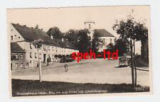 AK /  Neumittelwalde / Schles. ..Ring mit evgl. Kirche und Arbeitsdienstlager